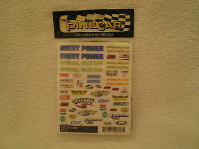 Pine Car Pinewood Derby DECALS STOCK CAR #P317