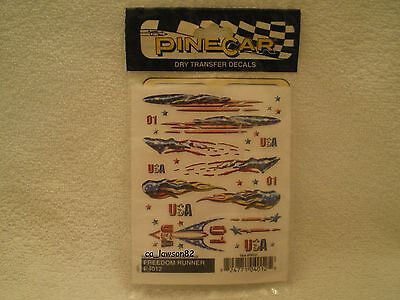 Pine Car Pinewood Derby DRY TRANSFER DECALS FREEDOM RUNNER P4012
