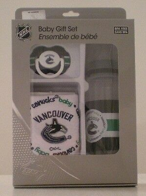Vancouver Canucks Bpa Free Baby Gift Set