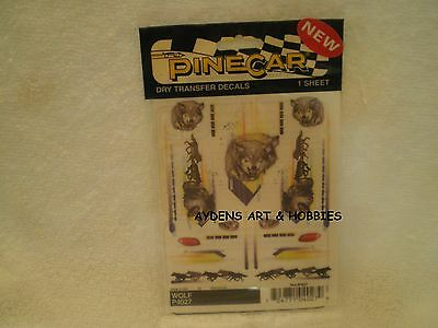 Pine Car Pinewood Derby DRY TRANSFER DECALS WOLF P4027