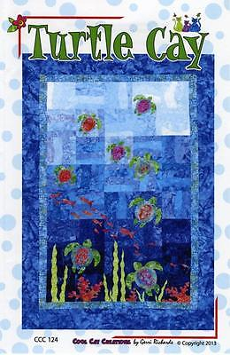 Turtle Cay Ocean Sea Fish Quilt Pattern CCC124 Applique Pieced