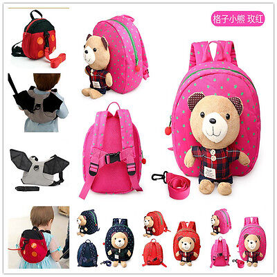 Cute Kids Safety Harness Reins Toddler Back pack Walker Strap Walker Baby's Bag