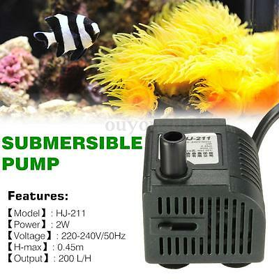 2W HJ 211 Eco Aquarium Poisson Pompe 200l/h Powerhead Fontaine Eau Hydroponique