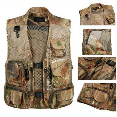 Outdoor Fly Fishing Hunting Sport Jacket Multi Pocket Waistcoat Mesh Zipper Vest