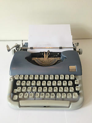 Beaucourt script typewriter blue Vintage very Rare full working VTG sixties