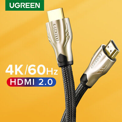 Ugreen Braided Ultra HD HDMI Cable V2.0 Video Cable 4K 3D for HDTV PS4 Apple TV