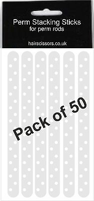 Perm Plastic Stacking Sticks Stick For Hair Perming Rods Rollers Curlers Pack 50