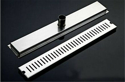 800mm Stainless Steel Bathroom Shower Grate Drain Floor Waste Linear Home