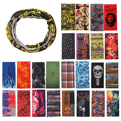 Punk Tube Scarf Bandana Head Face Mask Neck Cycling Yoga Headwear Wrap Band Cap