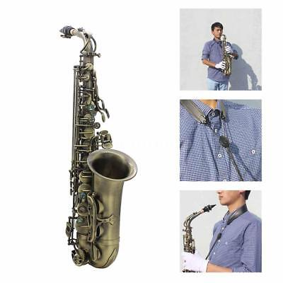 Antique Finish Bend Eb E-flat Alto Saxophone Sax with Accessories Kit Case W5W1