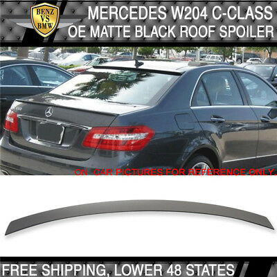 USA Stock 08 09-14 Benz W204 C-Class OE Painted Matte Black Roof Spoiler - ABS