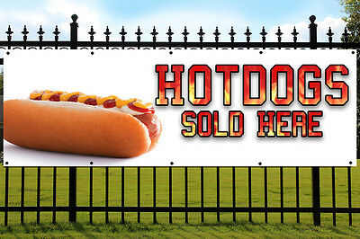 Hot Dogs Banner Outdoor/Indoor PVC Sign with Eyelets HOT FOOD