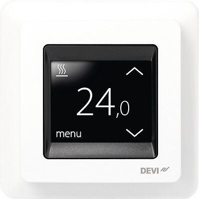 devireg touch thermostat f r elektrische fu bodenheizung temperaturregler eur 189 00. Black Bedroom Furniture Sets. Home Design Ideas