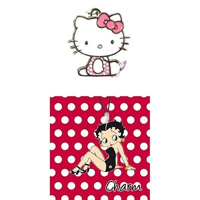 Girls Genuine Character Phone Bag Purse Charm - Betty Boop / Hello Kitty