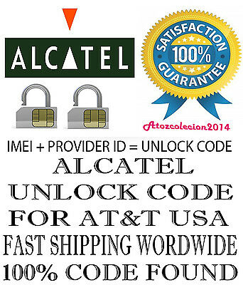 ALCATEL UNLOCK CODE FOR One Touch POP C1 AT&T 4015T