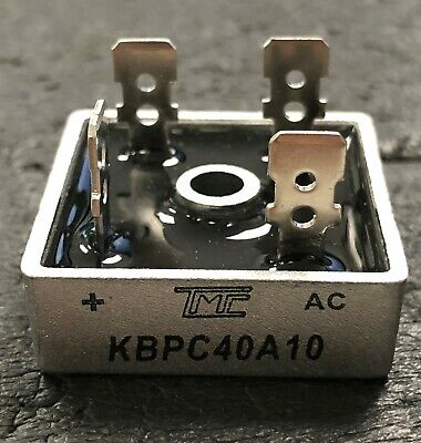 35 Amp 200- 1000 Volt Bridge Rectifier - KBPC35A10 - Aluminum Casing TRUE 35A