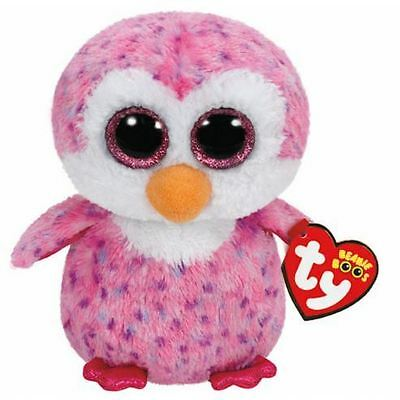 Ty Pink Glider the Penguin Beanie Boo