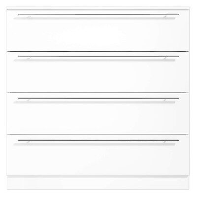 Space White 4 Drawer Chest of Drawers - High Gloss Finish