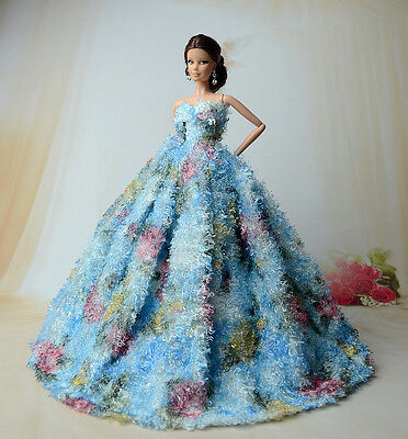 Fashion Royalty Princess Dress/Clothes/Gown for Barbie Doll S183u