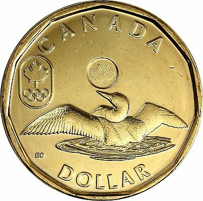 2012 London Olympic Lucky Loonie $1 Coin From Canada In Rcm Wrap Unciriculated
