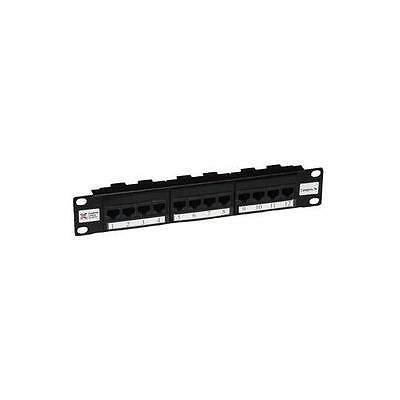 "GA11618 009-001-009-70 Connectix Cabling Patch Panel 10"" 12Way 5E (8X4 Tel)"