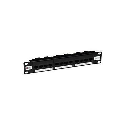 "GA11616 009-001-009-90 Connectix Cabling Patch Panel, 10"", 12Way, 6 (8X4 Tel)"