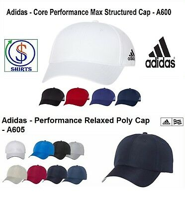 498556d63eb4e Adidas A605 Relaxed Poly OR Core Performance Max Structured A600 Unisex Cap  SALE
