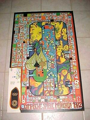 """1972 Munich Germany Olympic Vintage Olympische Spiele 25"""" x 40"""" Poster"""