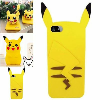 I Love Pikachu iPhone Case Cover 3D Cute Teddy Bear Toy Cartoon Anime Pokemon Go