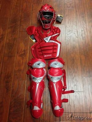 Easton Mako Adult baseball catchers equipment gear NEW Ages 16+ Red