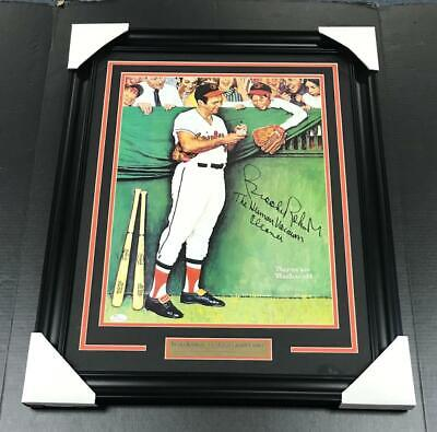 Brooks Robinson Autographed Photo Norman Rockwell Custom Framed Orioles Wf
