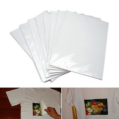 A4 Paper 10 Sheets Iron On Inkjet Print Heat Transfer For Light Fabric T-Shirt W