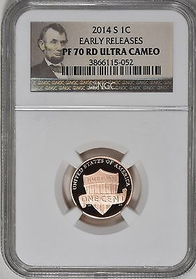 2014-S LINCOLN SHIELD CENT 1c *EARLY RELEASES* NGC PF70 ULTRA CAMEO