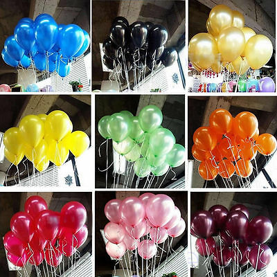 100pcs 10 inch Durable Colorful Pearl Latex Balloon Party Wedding Birthday Decor