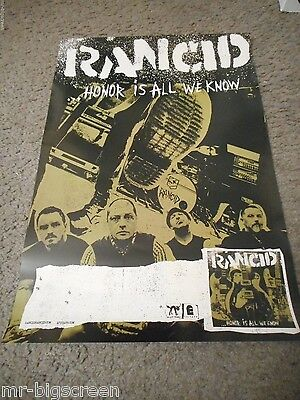 Rancid - Honor Is All We Know - Original Promo Poster