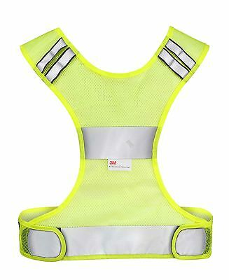 NEW Time to Run Hi Visibility Reflective 3M Scotchlite Running Cycling Mesh Bib