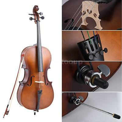 4/4 Full Size Solid Wood Cello Matte Finish Basswood Face Board with Bag Z5Z8