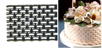 Patchwork Cutters BASKETWEAVE- Cake Decorating Embosser Cutter