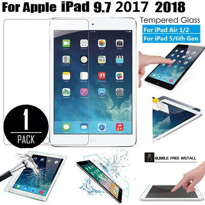 """Tempered Glass Film Screen Protector Fit For Apple iPad 5/6th Gen 9.7"""" 2018/2017"""