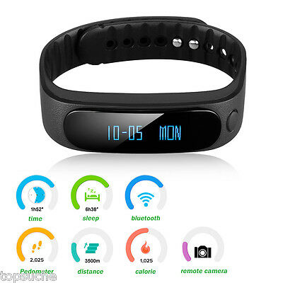Bracciale Bluetooth Sport Orologio Da Polso Smart Watch Fitness Tracker Phone IT