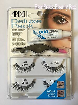 Ardell 120 Demi Twin Pack, Strip Lashes With Duo Adhesive & Lash Applicator