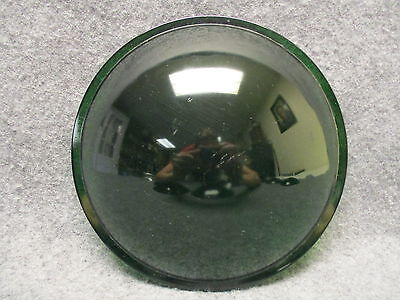 "(1) Kopp Glass 7-9/16"" Green Convex Lens Traffic Signal Or Theatre Light"