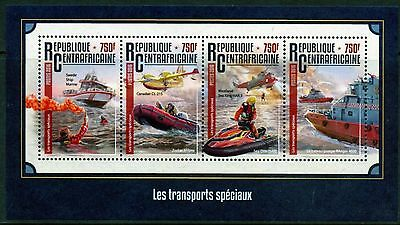 Central Africa 2016 Emergency Vehicles  Sheet  Mint Nh