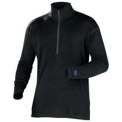 Castle X Mens Black 1/4 Zip Snowmobile Mid-Weight Base Layer Top Snocross