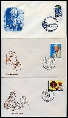 Pope John Paul Ii   Lot Of 18 Special Cancel & First Day Covers As Shown
