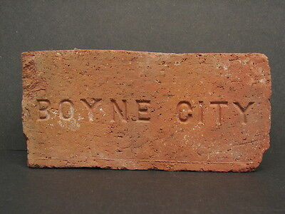 Antique Vtg Boyne City Michigan Brick Charlevoix County Architectural Salvage