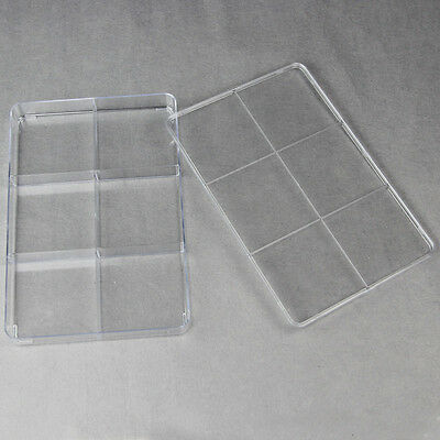 Plastic Craft Jewellery Storage Organiser Compartment Container Box Case 6 Grids