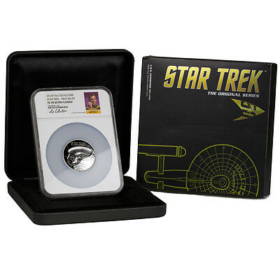 2016-P $8 5 Oz HR Silver Star Trek Enterprise NGC PF70 UC (Shatner) SKU41755