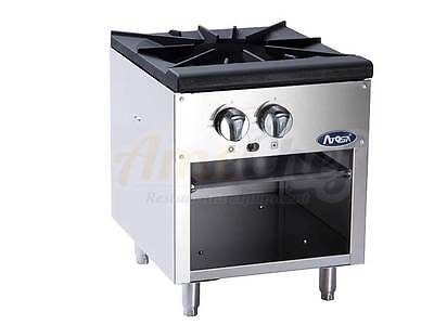 Atosa Single Gas Stock Pot Stove Floor Model Heavy Duty Double Burner- ATSP-18-1