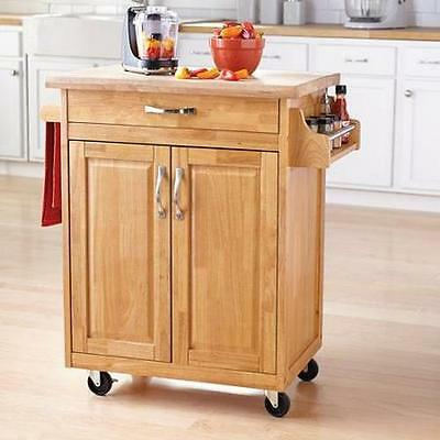 kitchen island table rolling utility cart storage portable cabinet